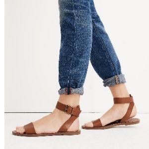 Madewell English Saddle Leather Ankle-Strap Sandal